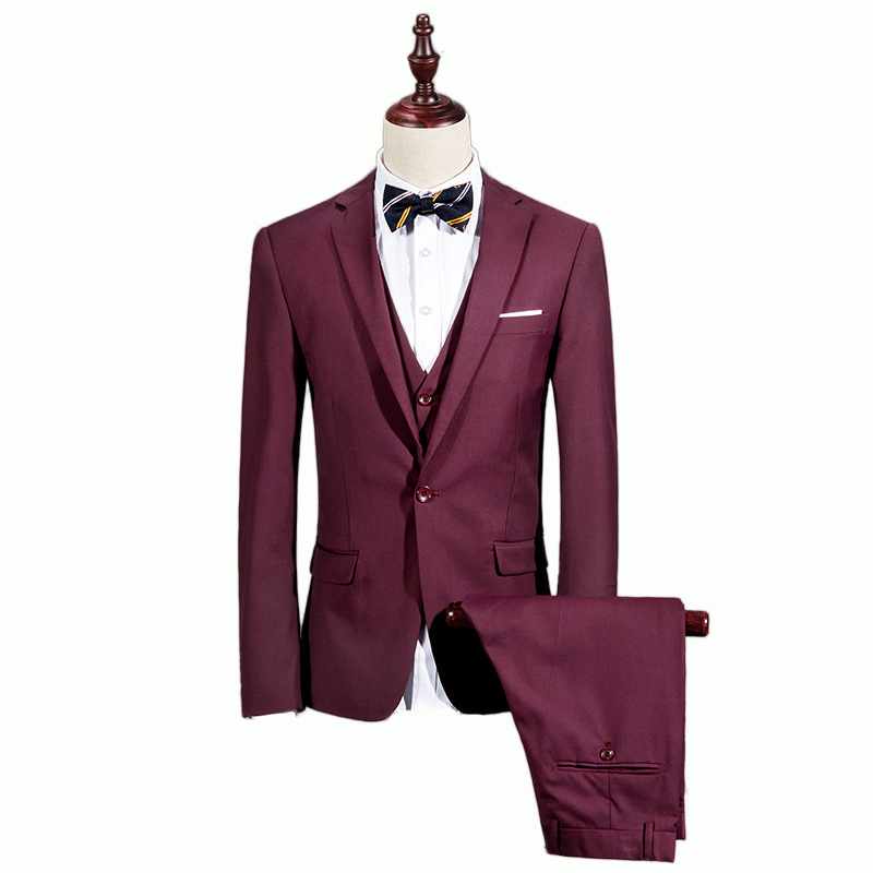 buy 2016 spring and autumn costume homme men 39 s casual suit three piece suit. Black Bedroom Furniture Sets. Home Design Ideas