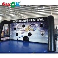 Гигантские надувные Футбол цель 6x3x2.7 м Портативный Футбол цель/надувные Футбол Kick игры для Футбол стрельба