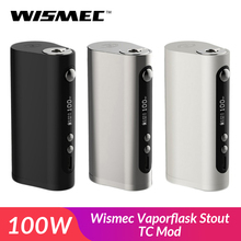Oryginalny Wismec Vaporflask Stout TC Mod 100W TC VW Bypass vape box Mod VS RX 2 3 zestaw elektroniczny papieros e-cig tanie tanio Elektryczne Mod Wismec Vaporflask Stout TC Box Mod 100W Metal 46 5*30 0*85 3mm 510 thread High-rate 26650 cell 18650 TC-Ni TC-Ti TC-SS VW Bypass Mode