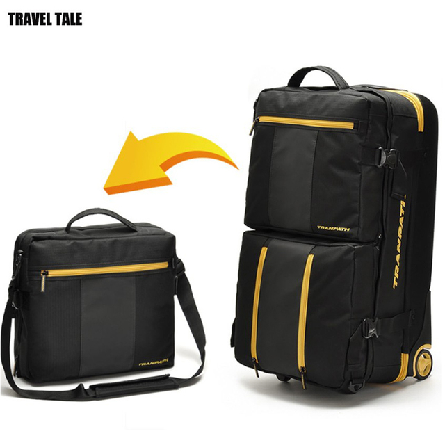 25d151a42 TRAVEL TALE 2018 men travel bags super large capacity 32 inch foldable  trolley luggage on wheels