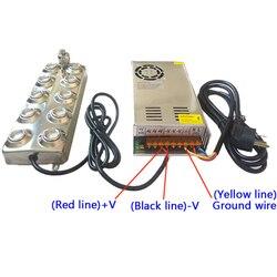 Ultrasoniczny dyfuzor Fogger 10 głowy nawilżacz 250W 7.5A transformator 4.5 kg/h inhalator ultradźwiękowy zaparowanie maszyny