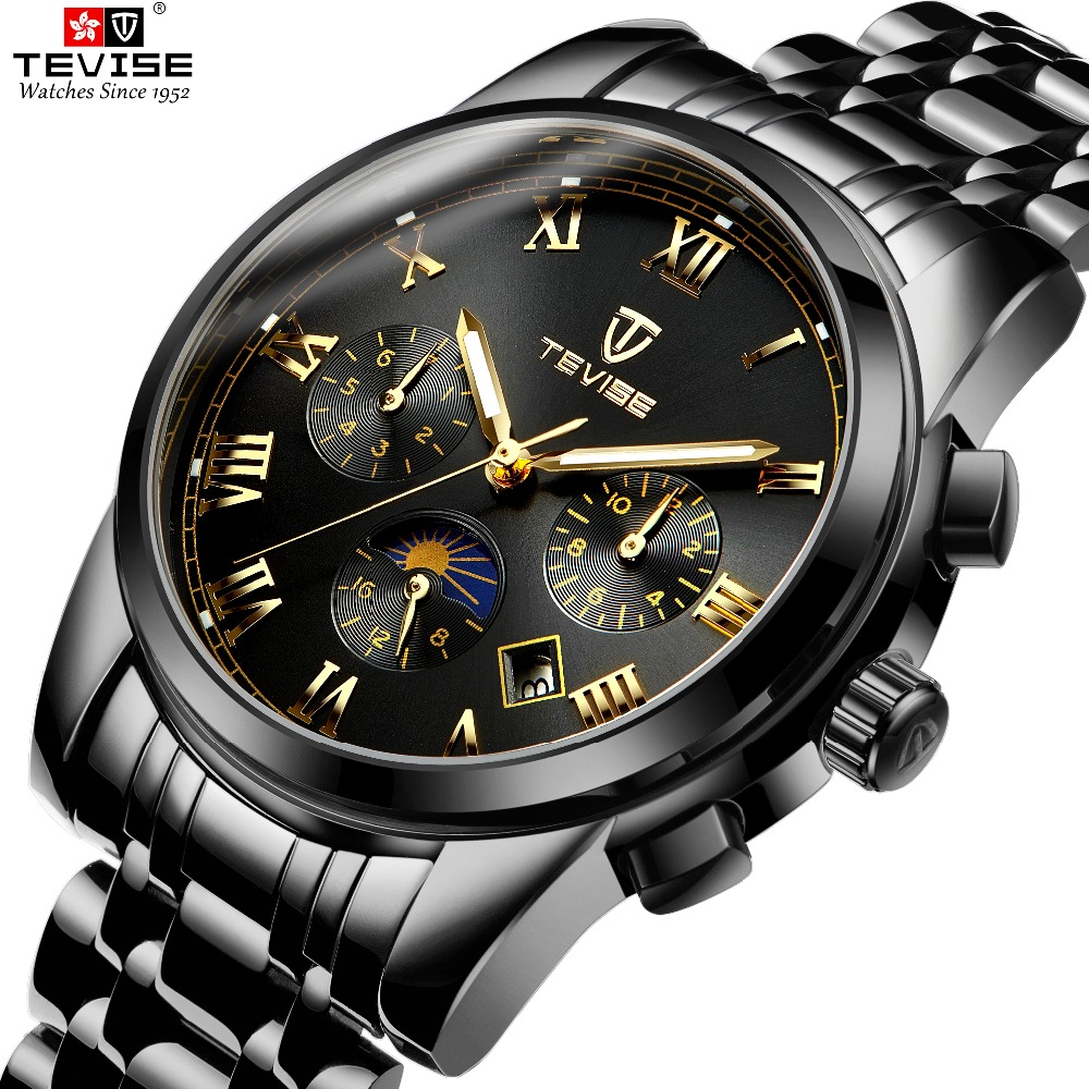 TEVISE Men Mechanical Wristwatches Automatic self-wind Watches Man Auto date Sport Wristwatch Man moon phase Relojes HombreTEVISE Men Mechanical Wristwatches Automatic self-wind Watches Man Auto date Sport Wristwatch Man moon phase Relojes Hombre