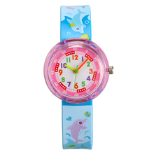 2019 Cartoon student Watches casual Kid Girls Relogio silico