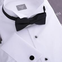 "Men's Tuxedo Shirt,French cufflinks banquet,small turn-down collar, high quality 140"" cotton yarn, 100% gurantee"