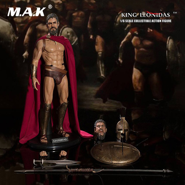 For Collection 1/6 Scale SA0030 Ancient Greek King King Leonidas Warriors of Sparta Double Head Sculpt Full Set Action Figure