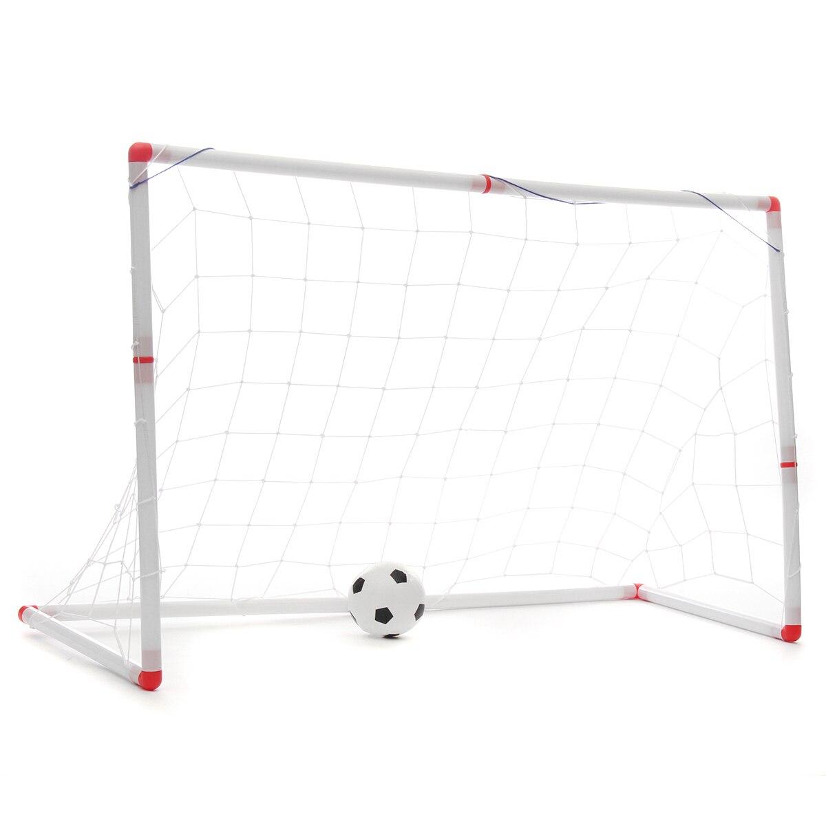 1pcs 126x45x71cm Kids Mini Football Gate Goal Post Net Ball Pump Soccer Door Outdoor ABS Sport Match Training Toy