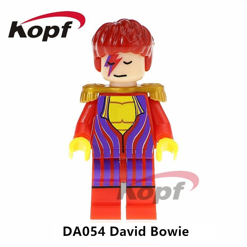 Single Sale Super Heroes David Bowie Rebel Rebel Grunge Icon Bob Ross Ronald McDonald Building Blocks Toys for children DA054 single sale chromed infinity gauntlet with 24pcs power stones vision super heroes building blocks children gift toys sy1099 2