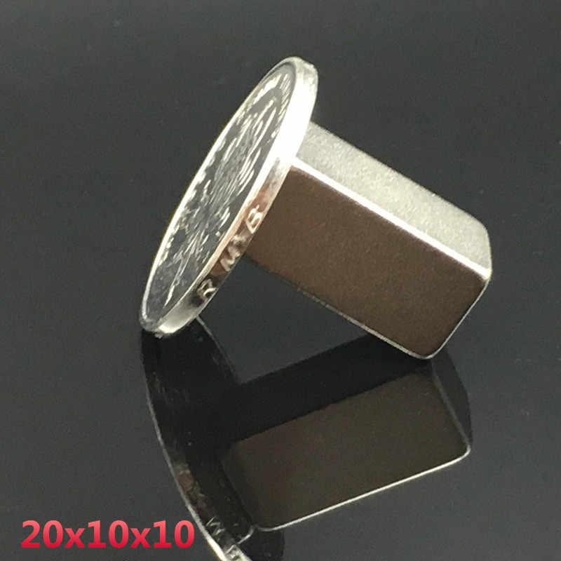 1 pcs neodymium מגנט 20x10x10mm קטן כיכר בלוק קבוע חזק חזק מגנטי 20*10 * 10mm קבוע אדמה נדירה