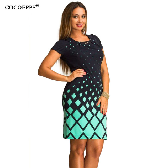 dd9805043 Grande Tamanho do vestido de Verão 2018 moda feminina tamanhos grandes  roupas femininas Impressão ocasional o
