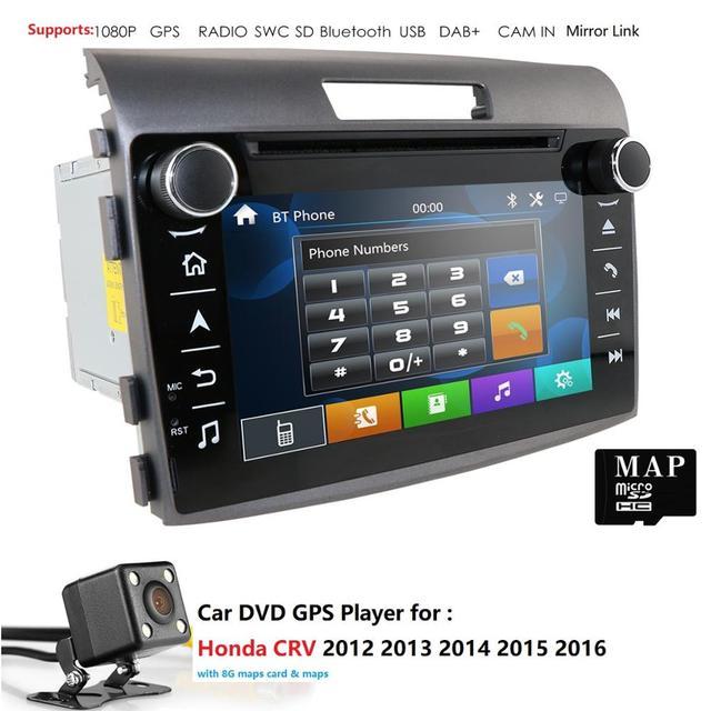 Reproductor de DVD para coche Radio Honda CRV 2012 2016 GPS unidad cabeza  navegación 2din Monitor Multimedia moto mirrorlink volante