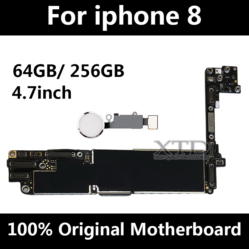 For <font><b>iPhone</b></font> <font><b>8</b></font> <font><b>Motherboard</b></font> 100% Original Unlocked Logic Board For <font><b>iPhone</b></font> <font><b>8</b></font> Mainboard 64GB / 256GB <font><b>With</b></font> <font><b>Touch</b></font> <font><b>ID</b></font> image