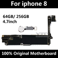 For iPhone 8 Motherboard 100% Original Unlocked Logic Board For iPhone 8 Mainboard 64GB / 256GB With Touch ID