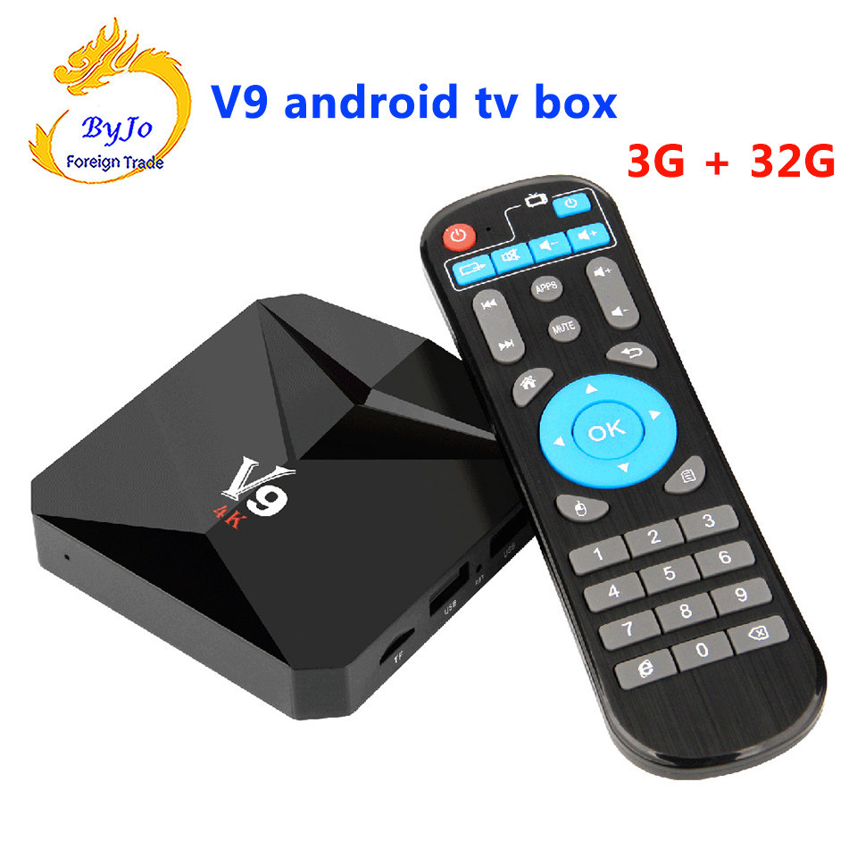 V9 Android 7.1 TV BOX 2G 16G Or 3G 32G Amlogic S912 Octa Core 2.4G WiFi BT4.0 4K 3D H.265 HDR10 Smart Media Player x92 4k android 7 1 smart tv box amlogic s912 octa core h 265 wifi ram 2g 3g set top box media player pk x96 tv box