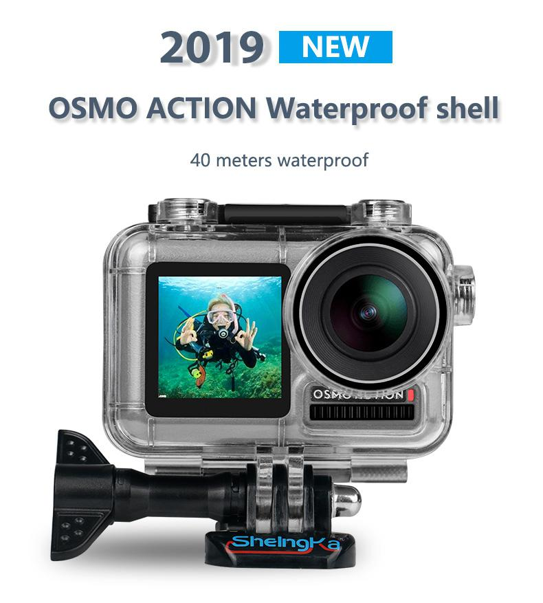 Yiwa For Osmo Action Waterproof Case Scuba Diving Camera Accessories Sport Camera Part Supplies image