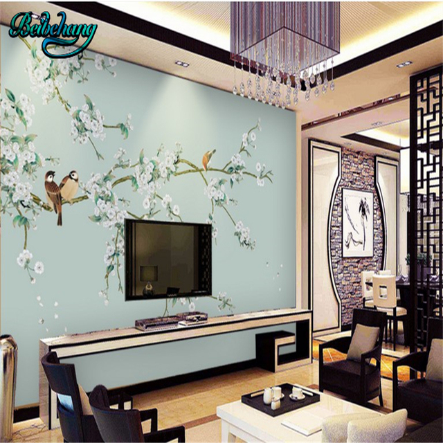 beibehang Flower fancy Chinese flower and bird lounge sofa TV ...