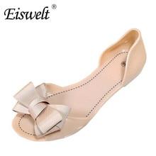 Eiswelt 2017 Neue Frauen Sandalen Süße Bowtie Flache Schuhe Frau Sommer Gelee Schuhe 4 Farben Größe 35-39 # DZW23