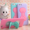 Case para iphone 7 6 s plus lovely fashion 3d bow-knot macio caso de silício para iphone 6 6 s 5 5se 4 4S doce cor titular estande tampa