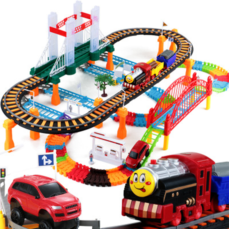 City Electric Railcar Variety Assembled Combination Multilayer Intersection Track Model Toy Children Gifts Birthday Gift