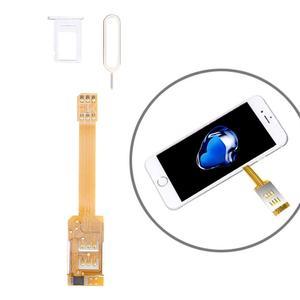 Image 2 - Für iPhone 7 7 Plus 6 s Plus 6 Plus 2 in 1 Dual SIM Karte Adapter + TPU Zurück fall Abdeckung mit SIM Karte Tray/SIM Karte Pin