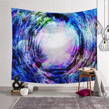 Fantasy Starry Sky Print Large Tapestry Wall Hanging Colorful Carpet Bedspread Yoga Mat Beach Towel Background Home Textile