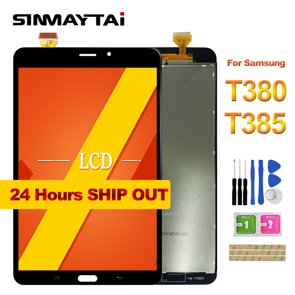 все цены на 8.0'' T380 LCD For Samsung Galaxy Tab A 8.0 2017 SM-T380 T385 Touch Screen Digitizer Glass Lcd Display assembly Replacement онлайн