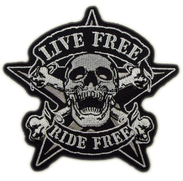 39 Live Free Ride Free Biker Vest Tattoo Cool Applique Iron On