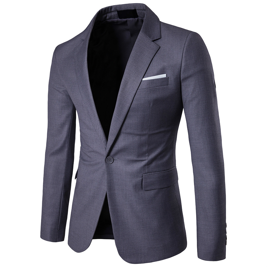 Costume d'affaires de mode meilleur homme jolie pochette mâle multicolore à manches longues formelle hommes gris Blazers grande taille 5xl 6xl costumes masculins