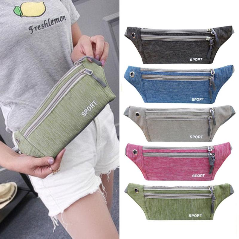Fine Jewelry Dedicated Waist Bag Women Men Fashion Neutral Outdoor Zipper Sport Canvas Messenger Chest Bag Bolsa Cintura Belt Bag For Running