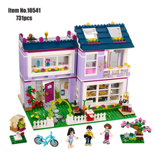 friends Princess girls Building blocks Emma's House Friends 41095 figure Bricks classic educational  toys for children цена