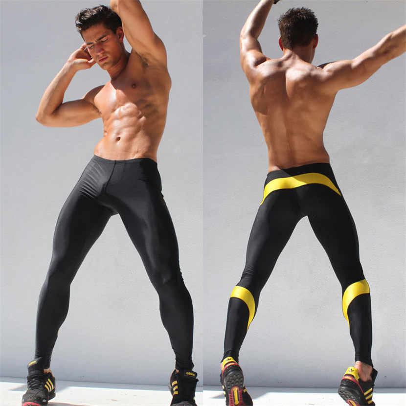 dc0b59384555c Mens Workout Fitness Compression Leggings Pants Bottom BDLJ Men Crossfit  Weight Lifting Bodybuilding Skin Tights Trousers