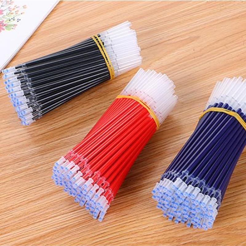 10 Pcs Office Gel Pen Refill Stationery 0.5mm Gel Pens Refill Kawaii Pen Refills Cute Pens Stationery Kawaii School Supplies