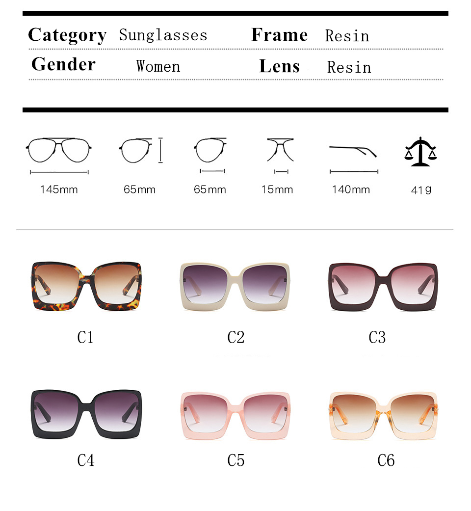 38242d6be713 HBK Ladies Square Sunglasses 2019 New Style Sun Glasses Brand Design Women  Big Frame Eyewear For Outdoor Shades Goggles Oculos