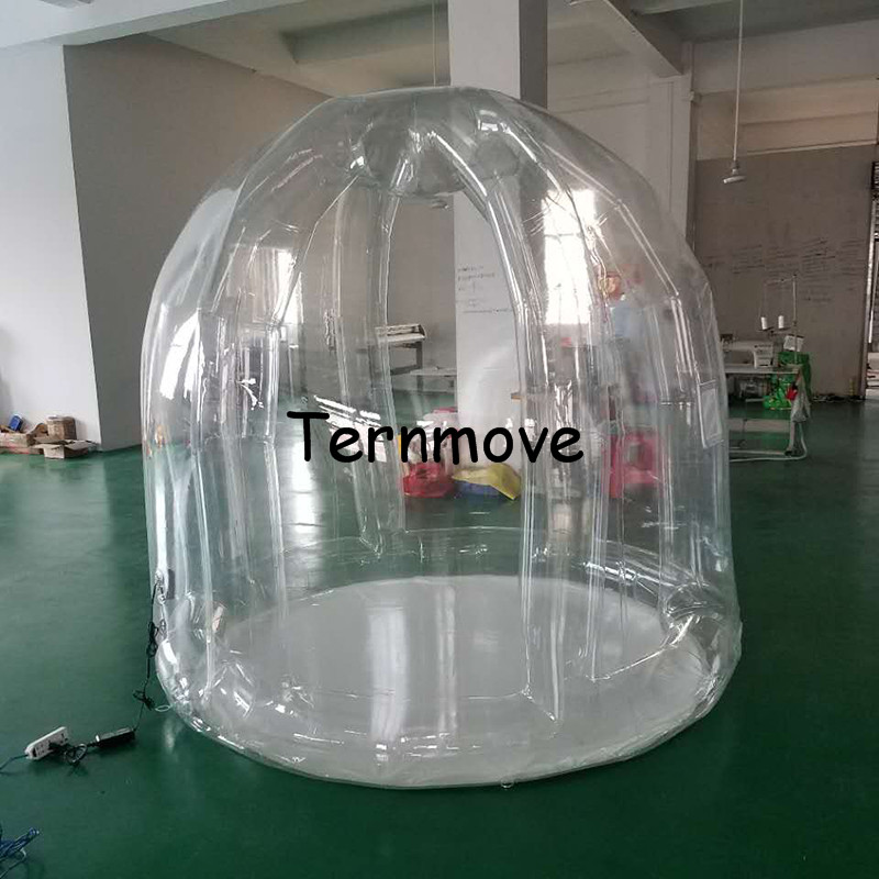 2m diameter inflatable garden camping tent,events outdoor inflatable transparent yerd tent, trade show and event tents high quality outdoor 2 person camping tent double layer aluminum rod ultralight tent with snow skirt oneroad windsnow 2 plus