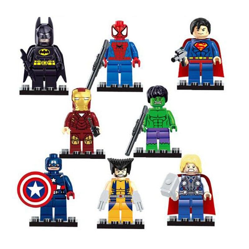 Super Heroes  Legoling Avengers Endgame Building Blocks Sets Thanos Iron Man Marvel Figures   Kid Toys