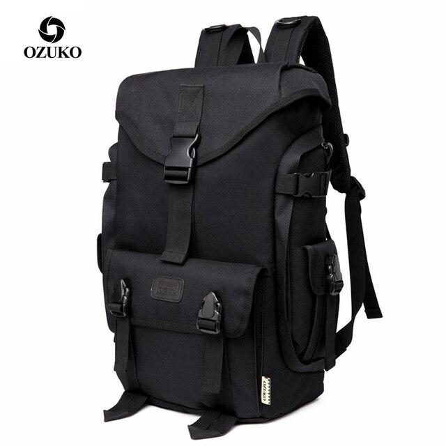 OZUKO מותג אופנה גבוהה קיבולת אוקספורד גברים תרמיל 2019 חדש ילקוט זכר נסיעות תרמילי 15.6 אינץ מחשב נייד שקיות ילד המוצ ילה