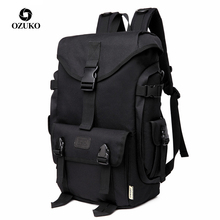 OZUKO Brand Fashion High Capacity Oxford Men Backpack 2019 New Schoolbag Male Travel Backpacks 15.6 inch Laptop Bags Boy Mochila