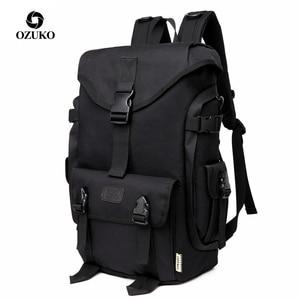 Image 1 - OZUKO marka moda duża pojemność Oxford mężczyźni plecak 2019 nowy tornister mężczyzna podróży plecaki 15.6 cal torby na Laptop chłopiec Mochila