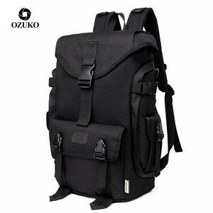 Image 1 - Ozukoブランドファッション高容量オックスフォード男性のバックパック 2019 新通学男性旅行バックパック 15.6 インチのラップトップバッグ少年mochila