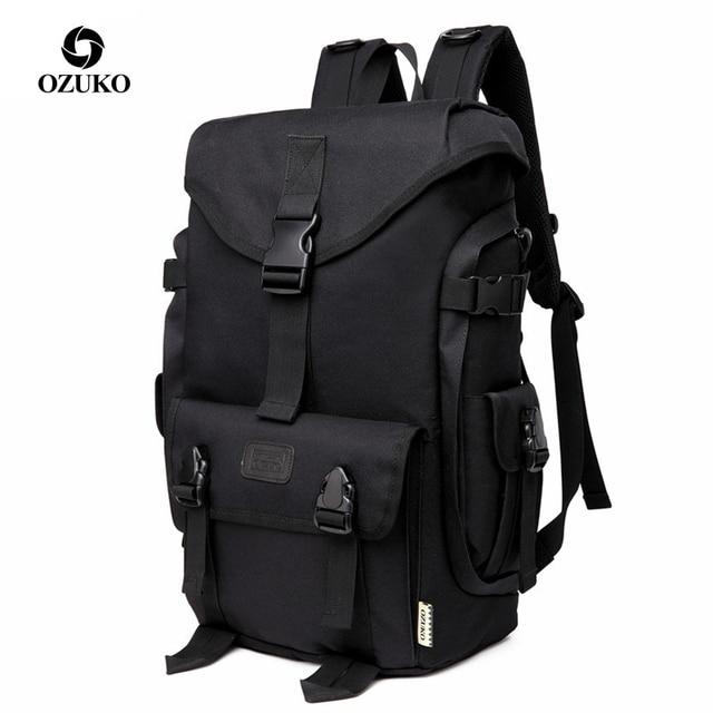 Ozukoブランドファッション高容量オックスフォード男性のバックパック 2019 新通学男性旅行バックパック 15.6 インチのラップトップバッグ少年mochila