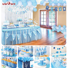 UWOWO Ice Princess Birth Party Decoration Full Set Party Game Play Anime Cosplay Princess Birthday Party Gift for Girls(China)