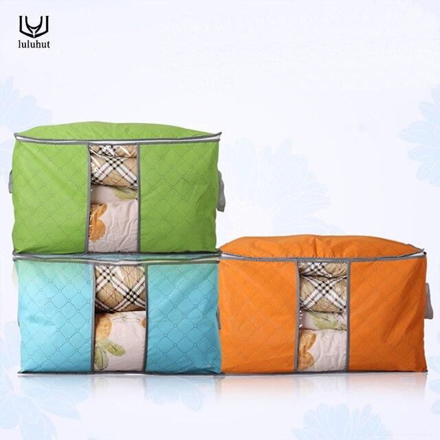 luluhut accueil de stockage portable grand sac de rangement couette organisateur conteneur. Black Bedroom Furniture Sets. Home Design Ideas