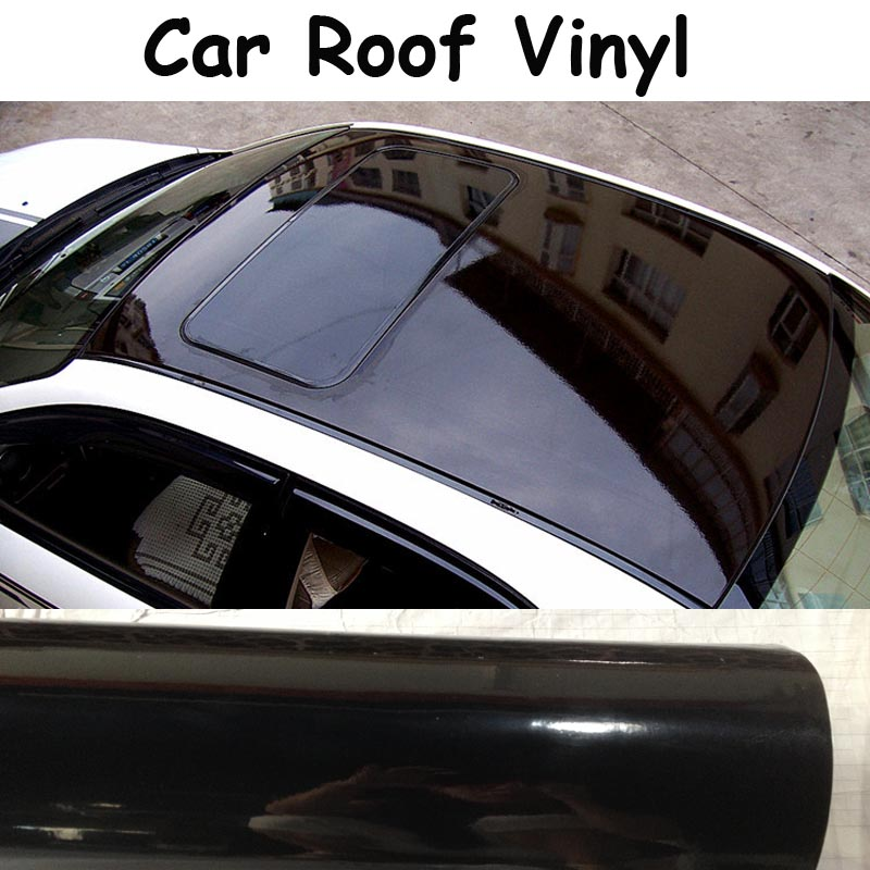 Captivating 3 Layers High Gloss Black Car Roof Wrap With Air Bubble Free Super Shiny  Gloss Film For Car Wrapping Size 1.35x15m/Roll In Hair Clips U0026 Pins From  Beauty ...