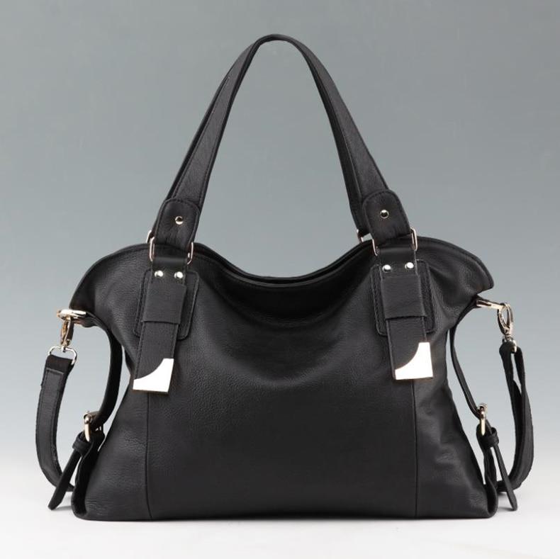 100% Genuine Leather Women Handbag Fashion Shoulder Bag ...