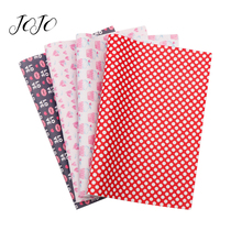 JOJO BOWS 22*30cm 1pc Faux Synthetic Leather Fabric PU Leather Printed Sheet For Crafts Bows Needlework Home Textile Decoration jojo bows 22 30cm 1pc synthetic leather fabric for crafts mermaid printed faux sheet for needlework bag apparel sewing materials