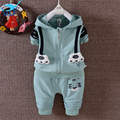 M&F 2017 New Spring Kids Clothes Sets Boys 2 piece Sets Cartoon Tiger Children Clothing Cotton Hooded For Boys and Girls