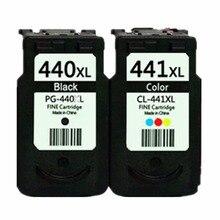 2 X картриджи для Canon PG-440 XL PG-440XL PG 440 PG440 CL-441XL CL441 Pi x mA MG2180 MG3180 MG4180 MG4280 струйный принтер