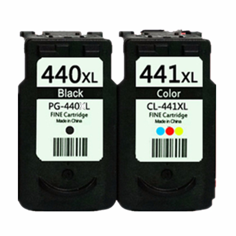 Remanufactured Ink Cartridges For <font><b>Canon</b></font> PG-440 XL PG-<font><b>440XL</b></font> PG 440 PG440 CL-441XL CL441 Pixma MG2180 MG3180 MG4180 MG4280 image