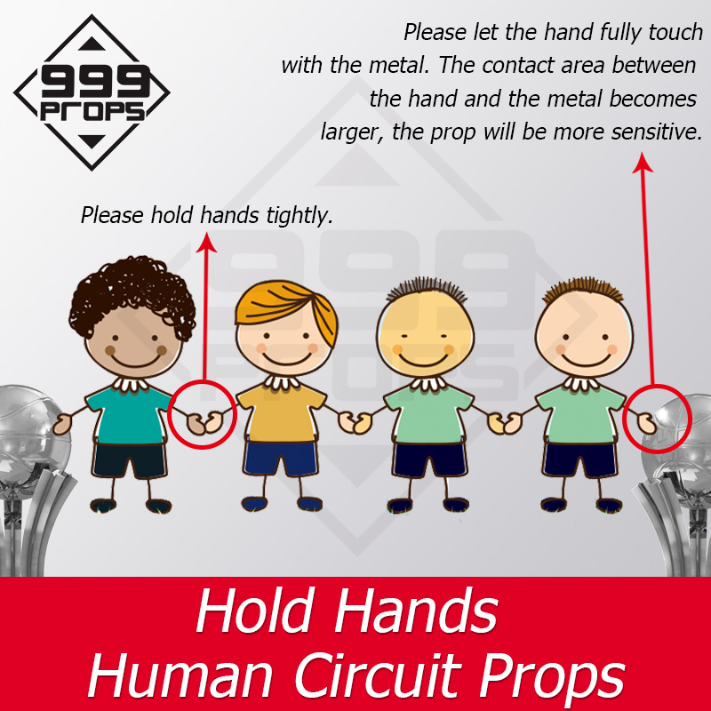 999 PROPS Escaperoom Game Props Hold Hand Tools Hand To Touch The Switch Body Bridge Props Chamber Props Adventure Props
