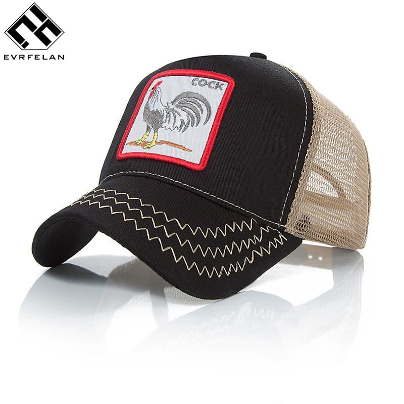 7102c65dbec Evrfelan Fashion Snapback Hat For Men Summer Mesh Baseball Cap Women Animal  Embroidery Hip Hop Cap