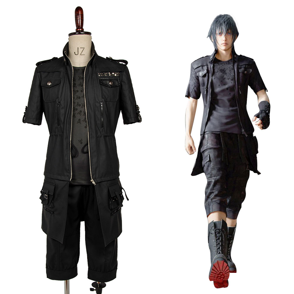 2017 Hot Sale Final Fantasy XV Noctis Lucis Caelum Cosplay Costume FF15 Black Jacket Suit Male Female Adult Outfit Full Set